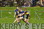Kerry team mates Peter  Crowley and Fionn Fitzgerald in action in Killorglin on Sunday