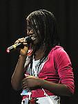Rachel Sowaili Drogheda Grammar school performing in the School Stars auditions in the TLT Drogheda. Photo: Colin Bell/pressphotos.ie