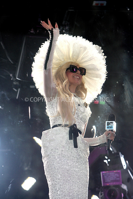 WWW.ACEPIXS.COM . . . . . .August 18, 2011...New York City...Lady Gaga on MTV in Times Square on August 18, 2011 in New York City.....Please byline: NANCY RIVERA - ACEPIXS.COM.. . . . . . ..Ace Pictures, Inc: ..tel: (212) 243 8787 or (646) 769 0430..e-mail: info@acepixs.com..web: http://www.acepixs.com .