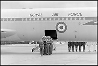 BNPS.co.uk (01202 558833)<br /> Pic: CrownCopyright/AirHistoricalBranch<br /> <br /> Coming home - Founder of Royal flying the Duke of Windsor's body was flown into RAF Benson in 1972 following his death in exile.<br /> <br /> A new book gives an intimate look behind the scenes of the Royal Flight and also the flying Royals.<br /> <br /> Starting in 1917 the book charts in pictures the 100 year evolution of first the King's Flight and then later the Queen's Flight as well as the Royal families passion for aviation.<br /> <br /> Author Keith Wilson has had unprecedented access to the Queen's Flight Archives to provide a fascinating insight into both Royal and aeronautical history.