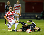 Dougie Imrie slides into Ryan Jack and is booked for the challenge
