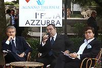 Sergio De Gregorio e Walter Lavitola in una foto darchivio