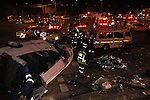 DURBAN - 5 September 2013 - Emergency crews and paramedics attend a crash scene where at least 24 people were killed when a lorry's brakes failed on Field's Hill in Pinetown and ploughed through four taxis and a car. Picture: Allied Picture Press/APP
