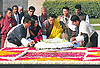 """KING AND QUEEN OF BHUTAN VISIT INDIA.The King of Bhutan, His Majesty Jigme Khesar Namgyel Wangchuck and the Bhutan Queen, Her Majesty Jetsun Pema Wangchuck lay a wreath at the Samadhi of Mahatma Gandhi, at Rajghat, New Delhi _25/01/2013. .King Wangchuk who was accompanied by Queen Jetsun Pema Wangchuck was the Chief Guest at the Indian Republic Day celebrations..Mandatory Photo Credit: ©Kumar/Newspix International..**ALL FEES PAYABLE TO: """"NEWSPIX INTERNATIONAL""""**..PHOTO CREDIT MANDATORY!!: NEWSPIX INTERNATIONAL(Failure to credit will incur a surcharge of 100% of reproduction fees)..IMMEDIATE CONFIRMATION OF USAGE REQUIRED:.Newspix International, 31 Chinnery Hill, Bishop's Stortford, ENGLAND CM23 3PS.Tel:+441279 324672  ; Fax: +441279656877.Mobile:  0777568 1153.e-mail: info@newspixinternational.co.uk"""