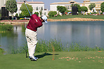 Lee Westwood tees off on the par3 6th tee during Day 1 of the Dubai World Championship, Earth Course, Jumeirah Golf Estates, Dubai, 25th November 2010..(Picture Eoin Clarke/www.golffile.ie)