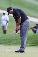 Bethesda, MD - July 1, 2017:  Jason Gore makes his putt during Round 3 of professional play at the Quicken Loans National Tournament at TPC Potomac in Bethesda, MD, July 1, 2017.  (Photo by Elliott Brown/Media Images International)