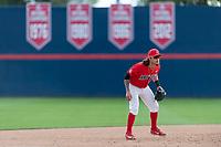 Arizona Wildcats third baseman Nick Quintana (13) during an NCAA game against the NDSU Bison at Hi Corbett Field on March 11, 2018 in Tucson, Arizona. Arizona defeated North Dakota State University 11-2. (Zachary Lucy/Four Seam Images)