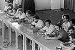 Retomada do sindicato após intervenção, metalurgicos do ABC. SBC. 1979. Foto de Juca Martins.