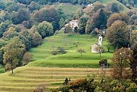 Switzerland, Ticino, Valle di Muggio, landscape near Muggio | Schweiz, Tessin, Valle di Muggio, Landschaft bei Muggio