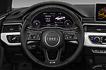 Car pictures of steering wheel view of a 2017 Audi A5 Sport 2 Door Convertible Steering Wheel