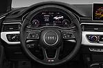 Car pictures of steering wheel view of a 2017 Audi A5 Sport 2 Door Convertible Steering Wheel