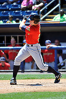 State College Spikes outfielder Taylor Lewis #25 during a game against the Staten Island Yankees at Richmond County Bank Ballpark at St. George on July 14, 2011 in Staten Island, NY.  Staten Island defeated State College 6-4.  Tomasso DeRosa/Four Seam Images