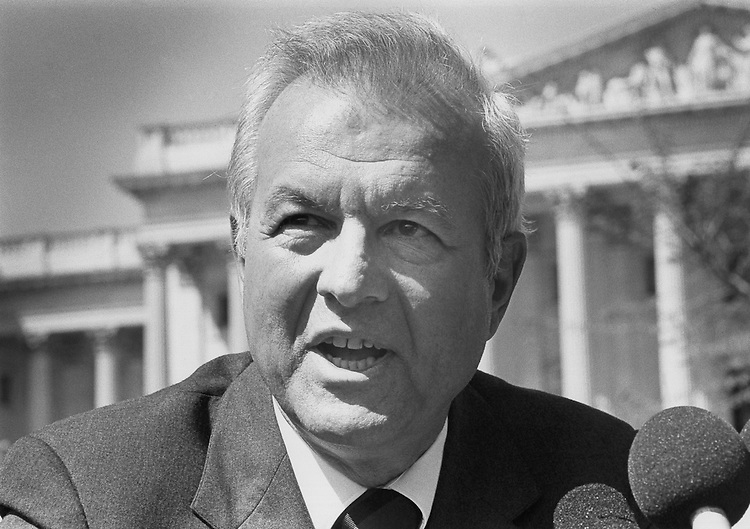 Harry Lonsdale a challenger to Senator Mark Hatfield of Oregon. June 6, 1990 (Photo by Maureen Keating/CQ Roll Call)