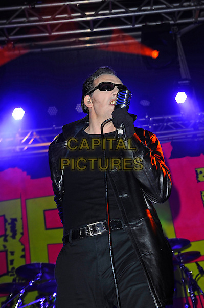 BLACKPOOL, ENGLAND - AUGUST 6: Dave Vanian(David Lett) of 'The Damned' performing at Rebellion Festival, Tower St Arena on August 6, 2016 in Blackpool, England.<br /> CAP/MAR<br /> &copy;MAR/Capital Pictures
