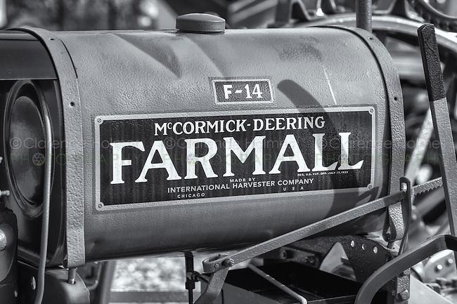 A 1938 International Harvester McCormick-Deering Farmall F-14 tractor.