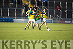 Feale Rangers Cormac Dillon and Kieran O'Donnell of South Kerry tussle for possession in the U14 County District Football Championship Cup final.