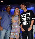 BOCA RATON, FL - OCTOBER 23: Floyd Raglin, Carmen Electra and Jonathan Cheban attend Fright Night by Berman and Berman Law held at the Blue Martini on Thursday October 23, 2014 in Boca Raton, Florida. (Photo by Johnny Louis/jlnphotography.com)