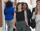 "Lisa Page, legal counsel to former FBI Director Andrew McCabe arrives ""for a transcribed interview"" before the United States House Judiciary Committee on Capitol Hill in Washington, DC on Friday, July 13, 2018. Page is considered to be a key witness by the committee for her role with Peter Strzok and decisions made by the Department of Justice and the FBI in the months before the 2016 Presidential election.<br /> Credit: Ron Sachs / CNP<br /> (RESTRICTION: NO New York or New Jersey Newspapers or newspapers within a 75 mile radius of New York City)"