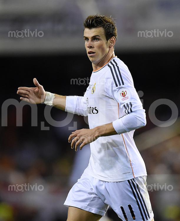 FUSSBALL  INTERNATIONAL Copa del Rey FINALE  2013/2014    FC Barcelona - Real Madrid            16.04.2014 JUBEL Real Madrid; Torschuetze des Siegtreffers zum 1-2 Gareth Bale