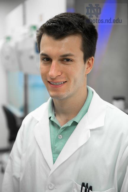Jul. 22, 2015; Nicholas King undergraduate researcher. (Photo by Matt Cashore/University of Notre Dame)