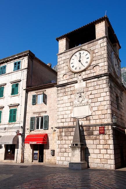 Town square clock, Kotor, Montenegro