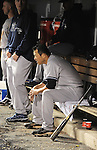 Hiroki Kuroda (Yankees),.MAY 7, 2013 - MLB :.Hiroki Kuroda of the New York Yankees reacts as he sits in the dugout during the baseball game against the Colorado Rockies at Coors Field in Denver, Colorado, United States. (Photo by AFLO)