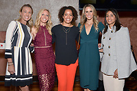 New York City, NY - MAY 23: Kyndra de St. Aubin, Match Analyst, Aly Wagner, Lead WWC Match Analyst, Danielle Slaton, Match Analyst, Leslie Osborne, Studio Analyst and Christina Unkel, Rules Analyst, attend the Fox Sports FIFA Women's World Cup Send-off at the Consulate General of France in New York City. (Photo by Anthony Behar/Fox Sports/PictureGroup)