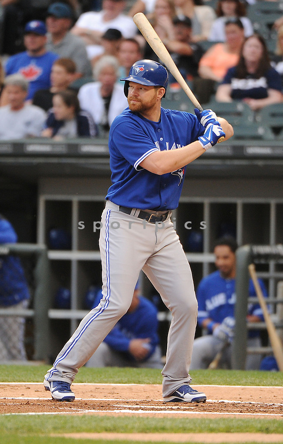 Toronto Blue Jays Adam Lind (26) during a game against the Chicago White Sox on June 11, 2013 at US Cellular Field in Chicago, IL. The Blue Jays beat the White Sox 7-5.