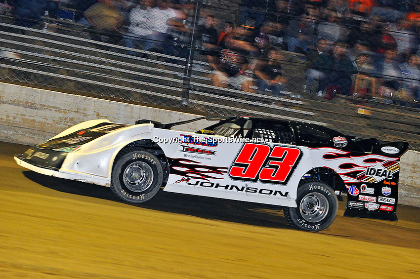 Sep 9, 2011; 10:14:34 PM; Rossburg, OH., USA; The 41st annual running of the World 100 Dirt Late Models racing for the Globe trophy at the Eldora Speedway.  Mandatory Credit: (thesportswire.net)