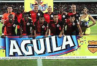 CUCUTA - COLOMBIA -31 -07-2015: Los jugadores de Cucuta Deportivo posan para una foto durante partido entre Cucuta Deportivo y Millonarios, por la fecha 4 de la Liga Aguila II-2015, jugado en el estadio General Santander de la ciudad de Cucuta. / The players of Cucuta Deportivo pose for a photo during a match between Cucuta Deportivo and Millonarios, for the date 4 of the Liga Aguila II-2015 at the General Santander Stadium in Cucuta city, Photo: VizzorImage / Manuel Hernandez/ Cont.
