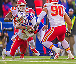 9 November 2014: Buffalo Bills wide receiver Robert Woods gains 9 yards on a tuck route in the fourth quarter against the Kansas City Chiefs at Ralph Wilson Stadium in Orchard Park, NY. The Chiefs rallied with two fourth quarter touchdowns to defeat the Bills 17-13. Mandatory Credit: Ed Wolfstein Photo *** RAW (NEF) Image File Available ***