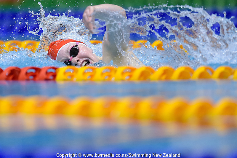 Chelsey Edwards in action during Session Three of the 2016 New Zealand Secondary Schools Championships, Wellington Regional Aquatic Centre, Wellington, New Zealand, Saturday 10 September 2016. Photo: Marco Keller / www.bwmedia.co.nz