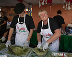 Rhonda Cerven making pesto sauce during the Italian Festival in downtown Reno on Saturday, Oct. 7, 2017.