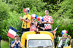 Fans wait for the riders to pass during Stage 10 of the 104th edition of the Tour de France 2017, running 178km from Perigueux to Bergerac, France. 11th July 2017.<br /> Picture: ASO/Alex Broadway | Cyclefile<br /> <br /> <br /> All photos usage must carry mandatory copyright credit (&copy; Cyclefile | ASO/Alex Broadway)