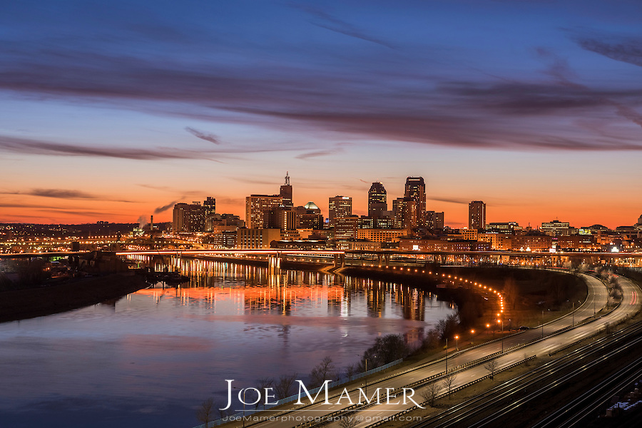 Saint Paul Minnesota skyline from Dayton's Bluff.