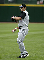 July 25, 2004:  Stephen Smitherman of the Louisville Bats, Triple-A International League affiliate of the Cincinnati Reds, during a game at Frontier Field in Rochester, NY.  Photo by:  Mike Janes/Four Seam Images
