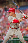 22 May 2015: Philadelphia Phillies infielder Chase Utley at bat during a game against the Washington Nationals at Nationals Park in Washington, DC. The Nationals defeated the Phillies 2-1 in the first game of their 3-game weekend series. Mandatory Credit: Ed Wolfstein Photo *** RAW (NEF) Image File Available ***