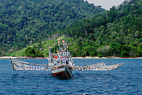 Fishing boats off Padang, Sumatra, Indonesia