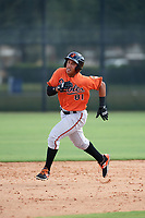 Baltimore Orioles Davis Tavarez (81) running the bases during an Instructional League game against the New York Yankees on September 23, 2017 at the Yankees Minor League Complex in Tampa, Florida.  (Mike Janes/Four Seam Images)
