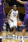 19 December 2013: Duke's Chelsea Gray. The Duke University Blue Devils played the University at Albany, The State University of New York Great Danes at Cameron Indoor Stadium in Durham, North Carolina in a 2013-14 NCAA Division I Women's Basketball game. Duke won the game 80-51.