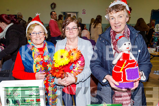 Abbeydorney ladies Anna O'Connell, Mary Shanahan and Mary Stack checking out the Arts, Crafts and Food fare at the Ardfert Community Centre on Sunday.