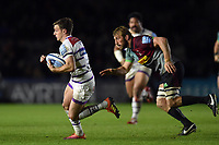 George Ford of Leicester Tigers goes on the attack. Gallagher Premiership match, between Harlequins and Leicester Tigers on May 3, 2019 at the Twickenham Stoop in London, England. Photo by: Patrick Khachfe / JMP