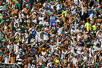 SAO PAULO, SP, 04 DE MARCO 2012 - CAMP. PAULISTA - PALMEIRAS X SAO CAETANO - Torcedor do Palmeiras momentos antes da partida contra o Sao Caetano em partida valida pela 12 Rodada do Campeonato Paulista, no estadio Paulo Machado de Carvalho (Pacaembu), na regiao oeste da capital paulista. (FOTO: WILLIAM VOLCOV  / BRAZIL PHOTO PRESS).
