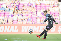 Orlando, FL - Sunday May 14, 2017: Ashlyn Harris during a regular season National Women's Soccer League (NWSL) match between the Orlando Pride and the North Carolina Courage at Orlando City Stadium.