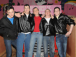 T-Birds Ryan Collins, Neil Reilly, Jojo McArdle, Ryan Cahill and Danny O'Brien in Ardee Community school's production of Grease at Ardee Parish Centre. Photo: Colin Bell/pressphotos.ie