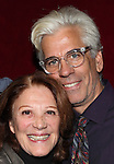 Linda Lavin and Director Steve Bakunas at The Red Barn Studio Theatre Off-Broadway production of 'Positions' at the Roy Arias Studio Theatre on October 10, 2012 in New York City.