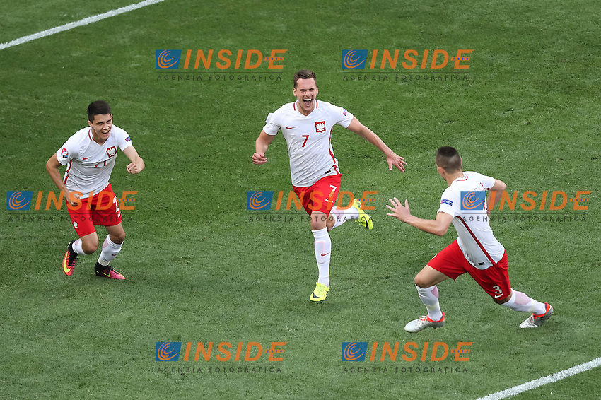 Celebration after goal of Arkadiusz Milik of Poland Esultanza Gol <br /> Nice 12-06-2016 Stade de Nice Football Euro2016 Poland - Northern Ireland / Polonia - Irlanda del Nord Group Stage Group C. Foto Chesterton / Phcimages / Panoramic / Insidefoto