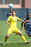 17 June 2007: Columbus's Jed Zaynor (24) and New England's Arsene Oka (CIV) (r). The New England Revolution Reserves defeated the Columbus Crew Reserves 2-1 on the Gillette Stadium practice field in Foxboro, Massachusetts in a Major League Soccer Reserve Division game.