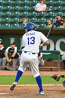 Gersel Pitre(13) of the Ogden Raptors at bat against the Grand Junction Rockies in Pioneer League action at Lindquist Field on September 3, 2015 in Ogden, Utah. Grand Junction defeated Ogden 16-8. (Stephen Smith/Four Seam Images)