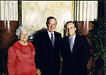 President George H. Bush and Barbara Bush at reception. Professional Image Photography by John Drew